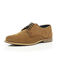 Light brown suede smart shoes