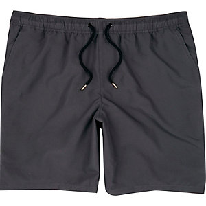 Dark grey swim shorts