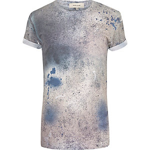 White paint splash short sleeve t-shirt