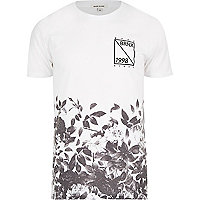 White Bronx 1998 leaf print t-shirt