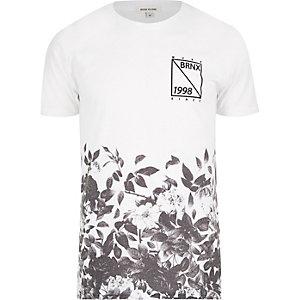 White Bronx 1998 leaf print t-shirt