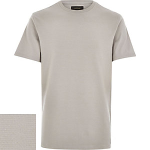 Grey dotty texture t-shirt