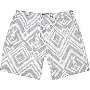 Grey tribal print shorts