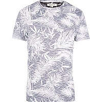 Black reverse palm print t-shirt