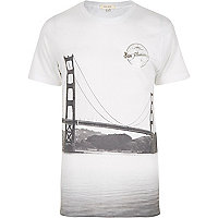 White San Fran bridge t-shirt