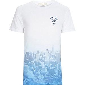 Blue faded New York City print t-shirt