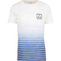White blue San Fran print t-shirt