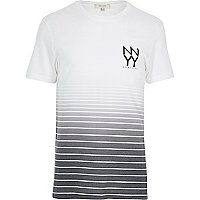 White black New York print t-shirt