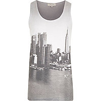 Grey New York skyline vest