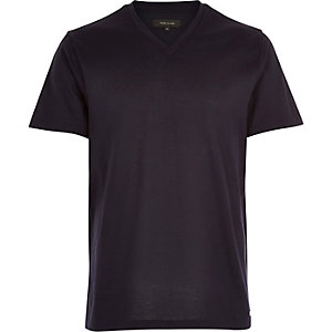 Navy premium V-neck t-shirt