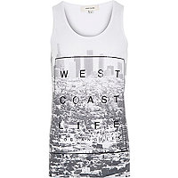 White West Coast life print vest