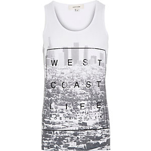 White West Coast life print tank