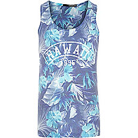 Blue Hawaii print vest