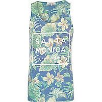 Green floral print Santa Monica print vest