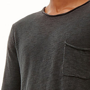 Black marl lightweight pocket jumper