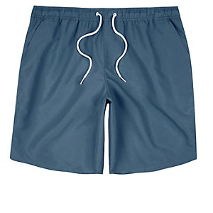 Grey drawstring swim trunks