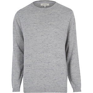 Grey marl melange jumper
