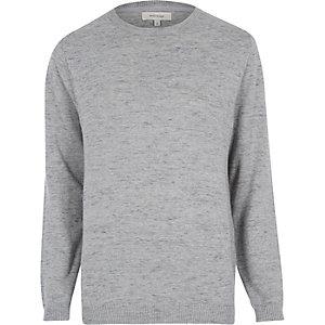 Grey marled melange jumper