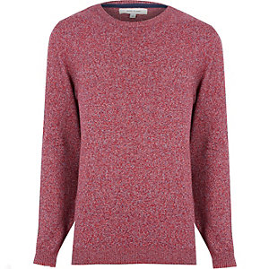 Red marled melange jumper