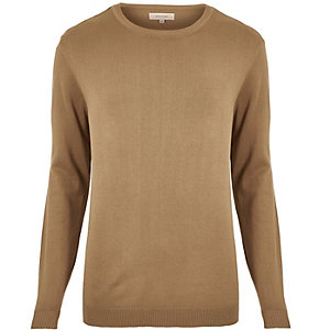 Light brown crew neck jumper
