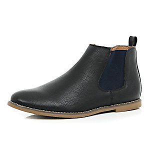Black contrast side Chelsea boots