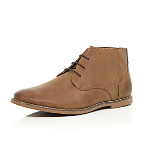 Tan brown desert boots
