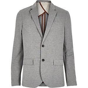 Light grey jersey slim blazer