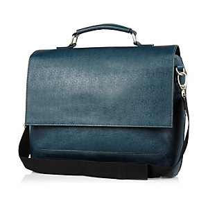 Dark turquoise flap over bag