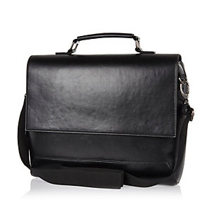 Black smart flap over bag