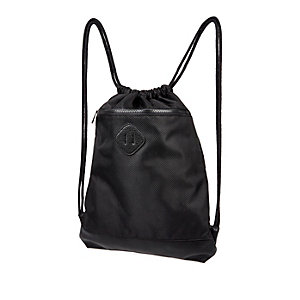 Black drawstring kit bag