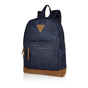 Navy textured backpack