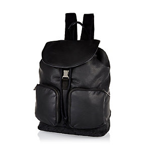 Black smart rucksack