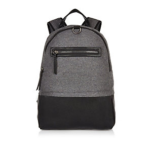 Black block panel backpack
