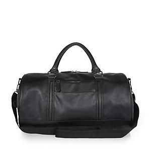 Black round holdall bag