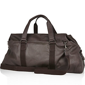 Brown slouchy holdall