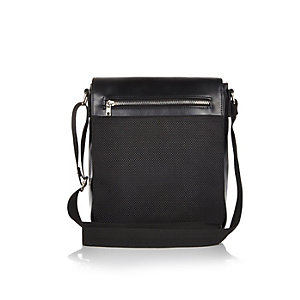 Black small flap over bag