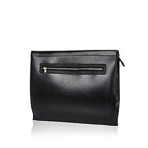 Black zipped document holder