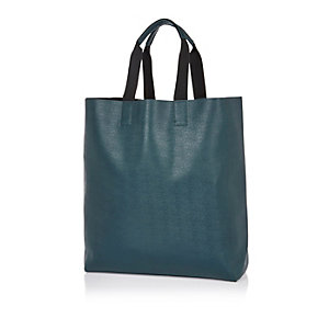 Blue minimalistic shopper bag