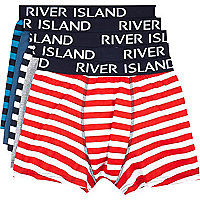 Mixed stripe RI boxer shorts pack