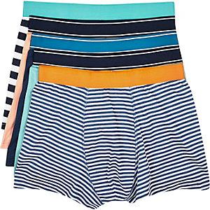 Navy printed boxer shorts pack