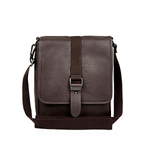 Brown small shoulder satchel bag