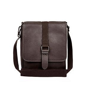 Brown small shoulder satchel bag