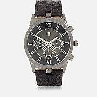 Black statement watch