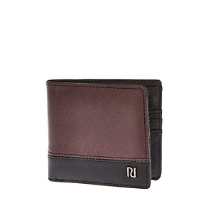 Dark red textured wallet
