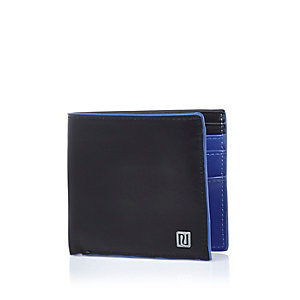 Black and blue edged wallet
