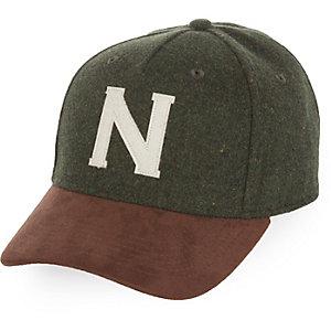 Green N flatpeak cap