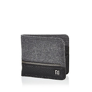 Black zip front wallet