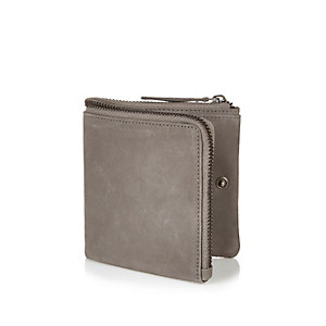 Ecru ziparound compact wallet