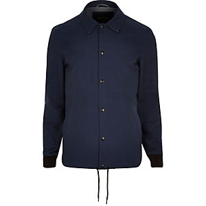 Navy casual coach jacket