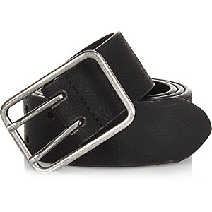 Black double prong belt
